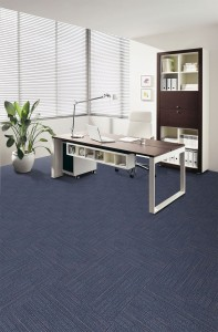 Blue office carpet tiles