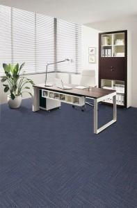 Blue office carpet tiles